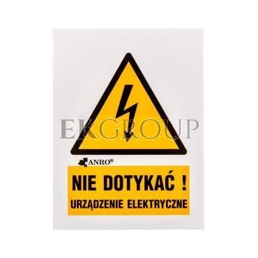 Tabliczka ostrzegawcza /Nie dotykać urządzenie elektryczne 52x74/ 1EOA/Q1/F-182896