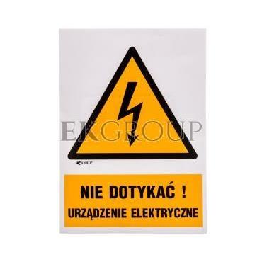 Tabliczka ostrzegawcza /Nie dotykać urządzenie elektryczne 148x210/ 1EOA/Q4/F-182897