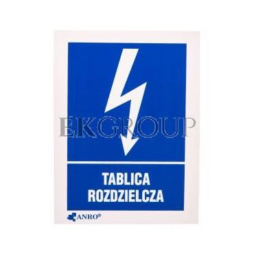 Tabliczka ostrzegawcza /TABLICA ROZDZIELCZA 52X74/ 15EIA/Q1/F-182911
