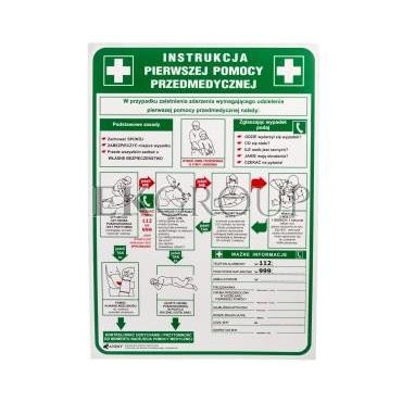 Tabliczka ostrzegawcza /Instrukcja pierwszej pomocy przedmedycznej/ IB13/P-182875