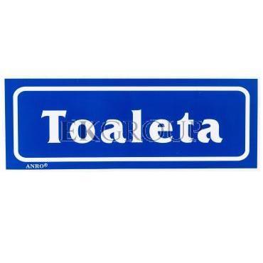 Tabliczka ostrzegawcza /TOALETA/ 18/T/F-182880
