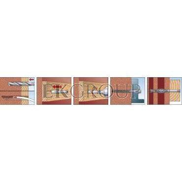 Kołek ramowy SXRL 10X160 FUS 522724 /50szt./-180452