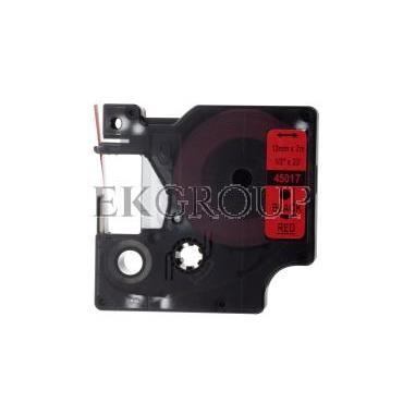 Taśma do drukarek D1 12mm x 7m czarny/czerwony S0720570-182952