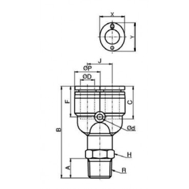 Szybkozłącze G-Fitting wtykowe, trójnik typu-Y Sang-A  GPWT