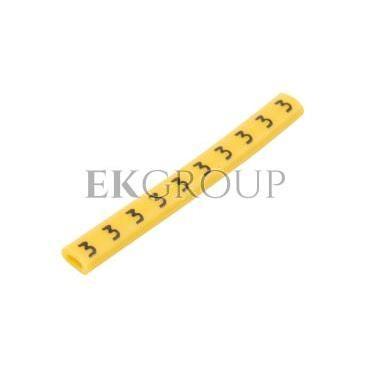 Oznacznik przewodów OZ-0/3 żółty E04ZP-01020100400 (100szt.)-181315