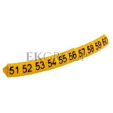 Oznacznik przewodów OZ-1/51-60 żółty E04ZP-01020201600 /100szt./-181388