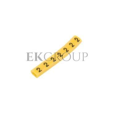 Oznacznik przewodów OZ-0/2 żółty E04ZP-01020100300 /100szt./-181322