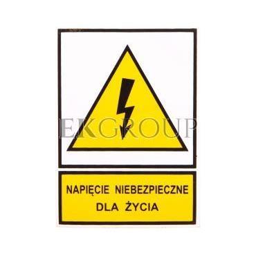Tabliczka /znak ostrzegawczy/ TZO 52X74S N.N.D.Z. E04TZ-01011110200-182805