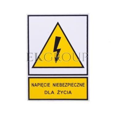 Tabliczka /znak ostrzegawczy/ TZO 52X74S N.N.D.Z. E04TZ-01011110200-182806