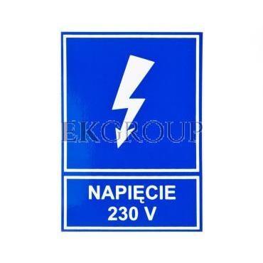 Tabliczka /znak informacyjny/ TZI 52X74S NAP.230V E04TZ-01041110800 /10szt./-182811
