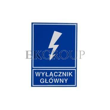 Tabliczka /znak informacyjny/ TZI 74X105S /WYŁĄCZNIK GŁÓWNY/ E04TZ-01041120200 /10szt./-182796
