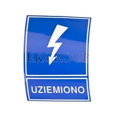 Tabliczka /znak informacyjny/ TZI 74x105S /UZIEMIONO/ E04TZ-01041120300-182833