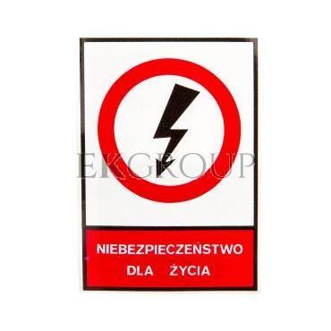 Tabliczka /znak zakazu/ TZZ 74X105S NIEBEZP.D.ZYC E04TZ-01031120100-182826