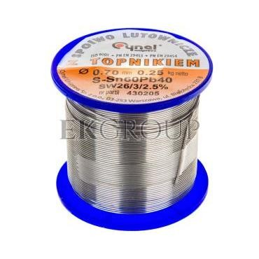 Drut do lutowania 0.7mm 20g DW 0.70/TLR E05ML-01010200501-185369