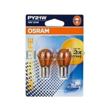 Żarówka do świateł pomocniczych PY21W 21W ULTRA LIFE 7507ULT-02B 4008321415165-190663