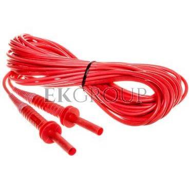 Przewód pomiarowy 10m czerwony 5kV /wtyki bananowe/ WAPRZ010REBB5K-186626