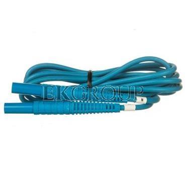 Przewód pomiarowy 2,2m niebieski /wtyki bananowe/ WAPRZ2X2BUBB-186631