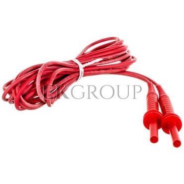 Przewód pomiarowy 5m czerwony 5kV /wtyki bananowe/ WAPRZ005REBB5K-186635