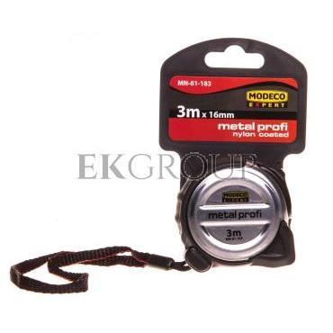 Miara zwijana 3m x 16mm stalowa METAL PROFI MN-81-183-186561