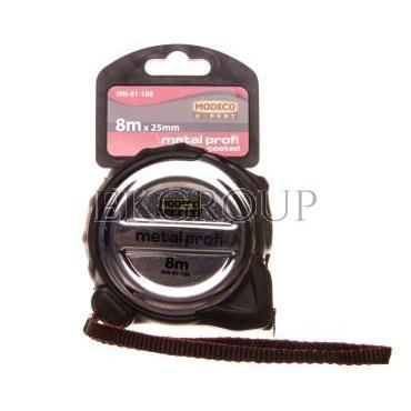 Miara zwijana 8m x 25mm stalowa METAL PROFI MN-81-188-186563
