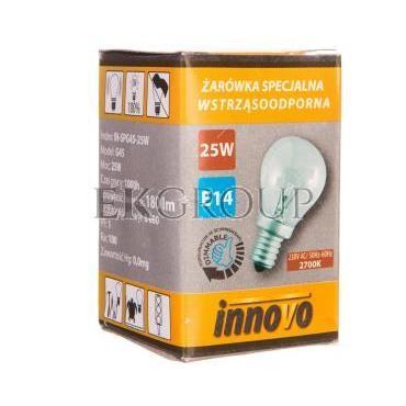 Żarówka wstrząsoodporna G45 25W E14 230V 180lm IN-SPG45-25W-190850