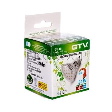 Żarówka LED 15 LED SMD 2835 zimny biały GU10 6400K 4W 340lm 230V 120st. LD-SZ1510-64-190384