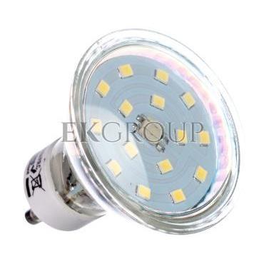 Żarówka LED 15 LED SMD 2835 zimny biały GU10 6400K 4W 340lm 230V 120st. LD-SZ1510-64-190385