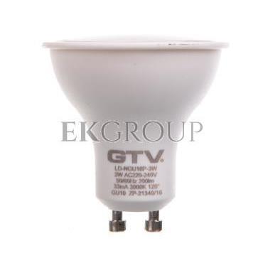 Żarówka LED SMD 2835 ciepły biały GU10 3W 230V 120st. LD-NGU10P-3W-190355