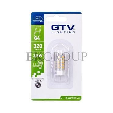 Żarówka LED SMD 2835 neutralnabiała G4 3,5W 12V DC 360st. LD-G4P35W-40-190360
