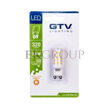 Żarówka LED SMD 2835 ciepła biała G9 3,5W AC 220-240V 360st. LD-G9P35W-30-190362