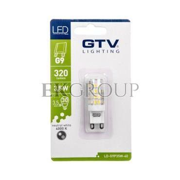 Żarówka LED SMD 2835 neutralna biała G9 3,5W AC 220-240V 360st. LD-G9P35W-40-190363