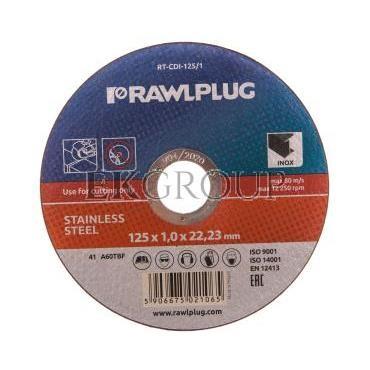 Ściernice płaskie do cięcia i szlifowania stali nierdzewnej 125x22,23mm RT-CDI-125/1-188215