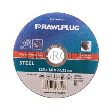 Ściernice korundowe do cięcia i szlifowania stali stopowych 125x22,23mm RT-CDM-125/1-188217
