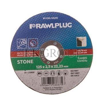 Ściernica korundowa do cięcia i szlifowania kamienia 125x22,23mm RT-CDS-125/25-188213