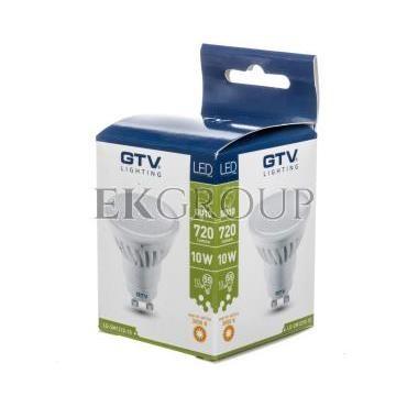Żarówka LED SMD 2835 ciepła biała GU10 10W 220-240V 120 stopni 720lm 87ma LD-SM1210-10-190457