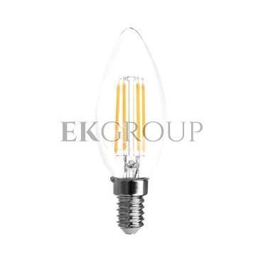 Żarówka LED FILAMENT świeczka C35 ciepła biała E14 4W 220-240V 50-60hz 360 stopni 400lm 35 mA LD-C35FL4-30-190464