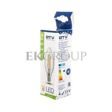 Żarówka LED FILAMENT świeczka C35 ciepła biała E14 4W 220-240V 50-60hz 360 stopni 400lm 35 mA LD-C35FL4-30-190465