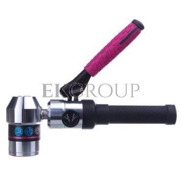 Ręczny dziurkownik hydrauliczny śruba hydrauliczna fi 19mm fi 9,5/19mm wiertło wstępne HSS fi 11mm zestaw tulejek dystans walizk