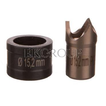 Wykrojnik do blachy stalowej nierdzewnej okrągły fi dziurkownika 15,2mm PG9 4055.115-189246