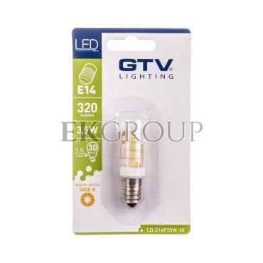 Żarówka LED SMD 2835 ciepła biała E14 3.5W AC220-240V kąt świecenia 360 stponi 320lm 38mA 3000K LD-E14P35W-30-190489