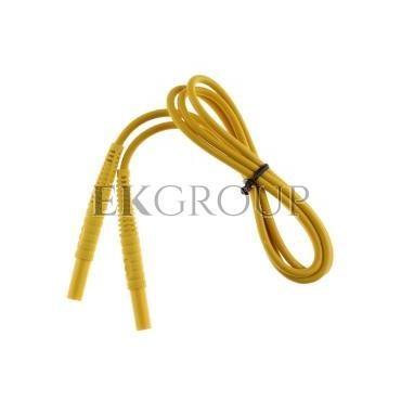 Przewód pomiarowy 1,2m żółty /wtyki bananowe/ WAPRZ1X2YEBB-186584