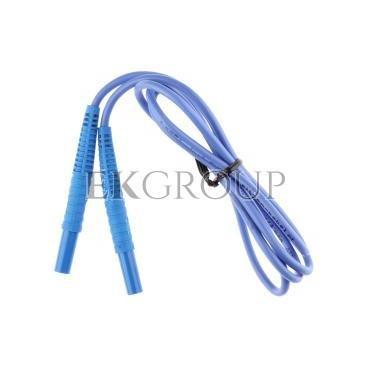 Przewód pomiarowy 1,2m niebieski /wtyki bananowe/ WAPRZ1X2BUBB-186576