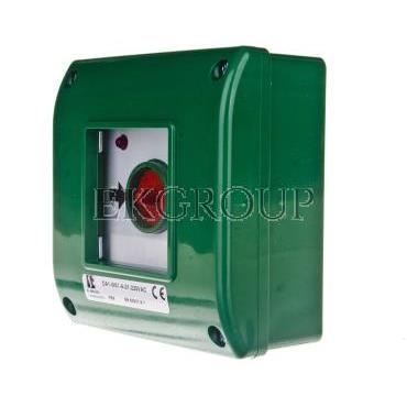 Przycisk awaryjny natynkowy 0Z 1R zielony OA1-W01-A-01-230VAC-199611