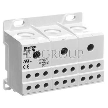 Blok rozdzielczy 3-potencjalowy szary AUX38073 82120002-195925