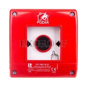 Przycisk ppoż. natynkowy 2Z 1R czerwony OP1-W01-B\21-199616