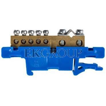 Listwa zaciskowa na szynę 7-torowa niebieska TH35 N LZ-7/N 0920-00-196257