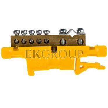 Listwa zaciskowa na szynę 7-torowa żółta TH35 LZ-7/Ż 0920-01-196258