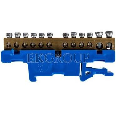 Listwa zaciskowa na szynę 12-torowa niebieska TH35 2N LZ-12/N 0921-00-196259