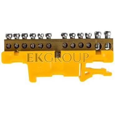 Listwa zaciskowa na szynę 12-torowa żółta TH35 LZ-12/Ż 0921-01-196260