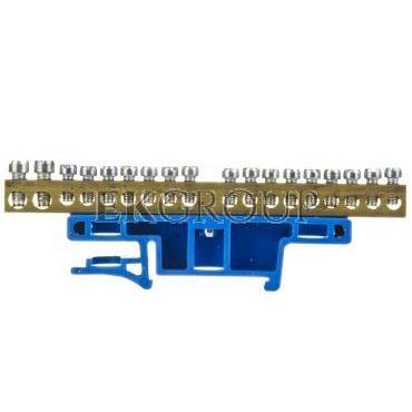 Listwa zaciskowa na szynę 18-torowa niebieska TH35 LZ-18/N 0922-00-197082